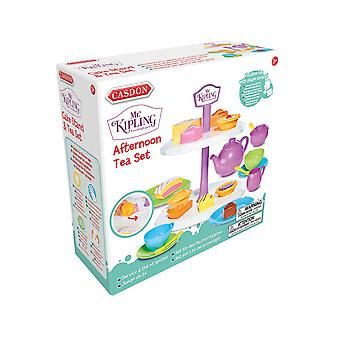 Casdon Mr Kipling Afternoon Tea Set Pretend Play With Play Food and Accessories
