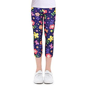 Random Colokids Children Pencil Pants Leggings For 4-10y Girl Clothes Summer Girls Leggings Skinny Calf-length Cropped Trousers