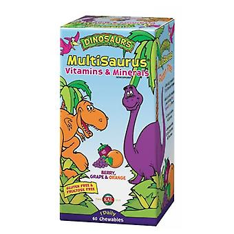 Kal MultiSaurus, Berry, Grape & Orange 60 Chews