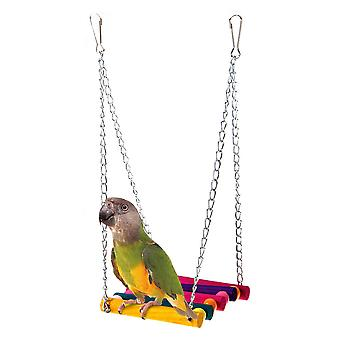 Bird Toy Parrot Suspension Bridge Swing