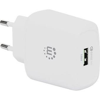 Manhattan 102285 USB charger Mains socket Max. output current 3 A 1 x USB 3.2 1st Gen port A (USB 3.0) Qualcomm Quick Charge 3.0