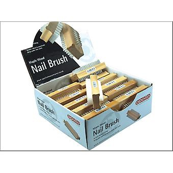 Apollo Housewares Wooden Nail Brush 6208
