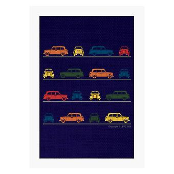 London Taxi Company TX4 Angled Colourful Montage A4 Print