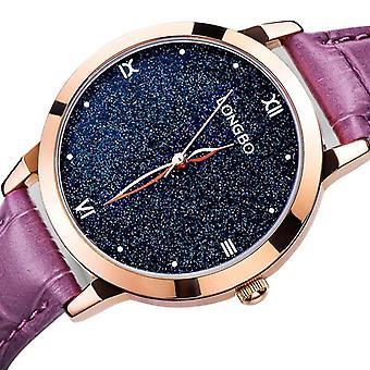 LONGBO 5052 femmes Blue Sky Vast Universe Fashion Leather Band Quartz Watch