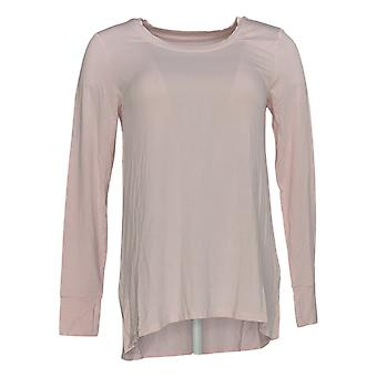 Cuddl Duds Women's Top Softwear With Stretch Long Sleeve Crew Pink A381708