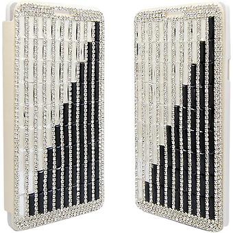 Aimo Deluxe Crystal Case for Samsung Galaxy Note 4 - Crystal Black/White
