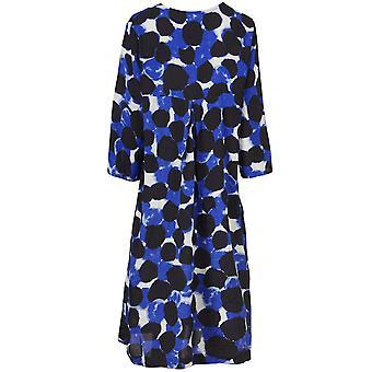 Masai Clothing Nodetta Blue Bold Print Dress