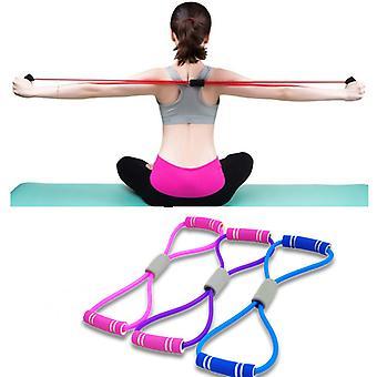Joga Gum Fitness Resistance 8 Word Chest Expander Rope Workout Muscle Trainning Gumowe gumowe gumki do ćwiczeń sportowych