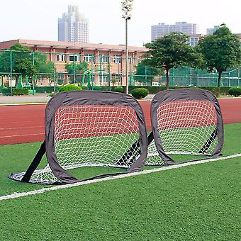 Mobile Football Goal Post - Set Of 2 Pop-up Goal Post Mini Football Games - With Carrying Bag 80 X 120 X 80 Cm