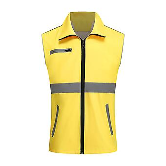 YANGFAN Men's Reflective Lapel Vest
