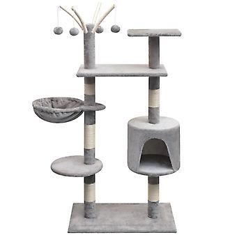 vidaXL Cat Scratching Post 125 cm Grey