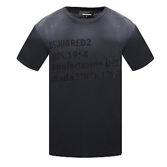 Dsquared2 Cool Fit Faded Black T-Shirt