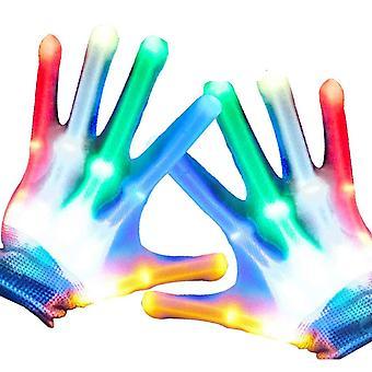 Rock skeleton hand gloves led finger light gloves light up flashing gloves toys boys kids light show