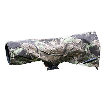 Rainsleeve cover for camera lenses. large size in an attractive leaf pattern material