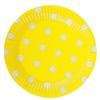 Polka Dot Disposable Paper Plate