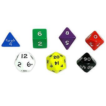 Dadi poliedri Jumbo, set di 7