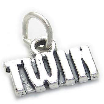Twin Sterling Silver Charm .925 X 1 Twins Charms - 3750