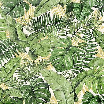 Jungle Baldakin Grøn Tapet