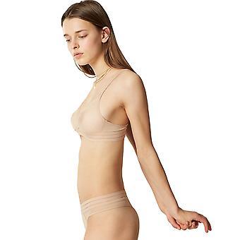 Maison Lejaby 171242-389 kvinnors Nufit Power Skin beige ren icke-vadderad icke-kabelansluten mjuk behå
