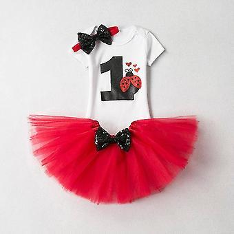 Lovely Girls Romper Skirt + Headband Outfit , Design 17