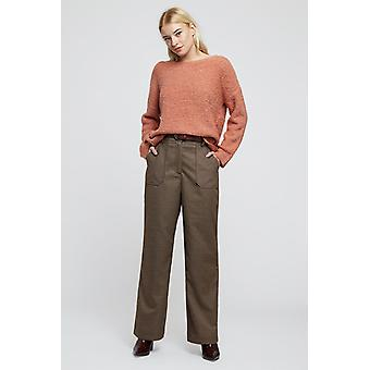 Louche Womens Marcus Wide LegTrouser Brown