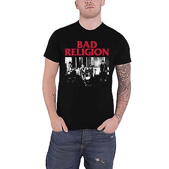 悪い宗教Tシャツライブ1980バンドロゴ新公式メンズブラック
