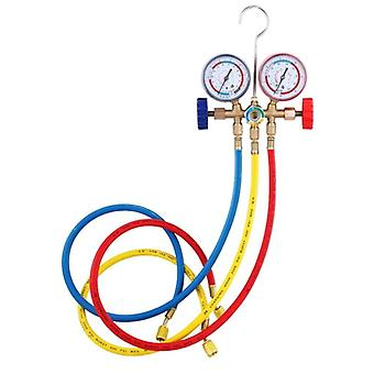 Refrigerant Manifold Gauge, Air Condition Refrigeration Set Tools With Hose And