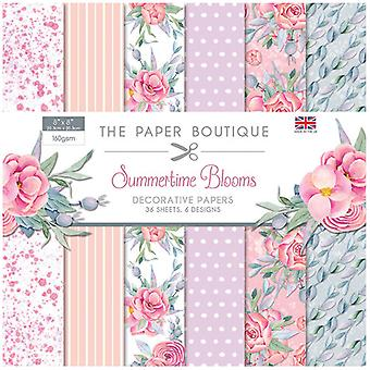 The Paper Boutique - Summertime Blooms Collection - 8x8 Paper Pad