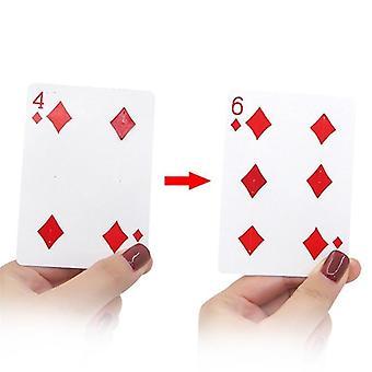 Fantastiske bevegelige punkt magiske triks nærbilde kort