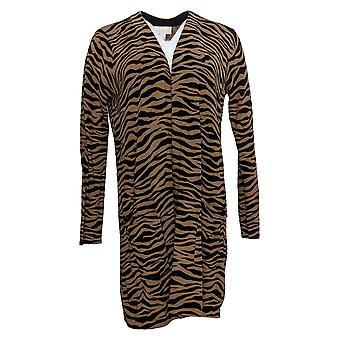 Belle by Kim Gravel Women's Sweater Vest met Pockets Brown A386454