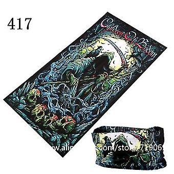 Skull Design Series Scarf Variety Tube, Half Face Mask, Halloween Headband,