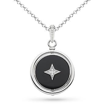 Kit Heath Special Edition Empire Astoria Onyx Cubic Zirconia Nocturne Spinner 28&Halsband 90416ONC