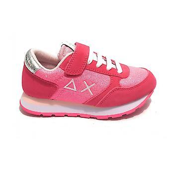 Shoes Baby Sun68 Sneaker Girl's Ally Solid Fuxia/ Glitter Zs21su14 Z31404