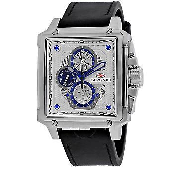 Seapro Dual Timer Quartz White Dial Men's Watch SP0110