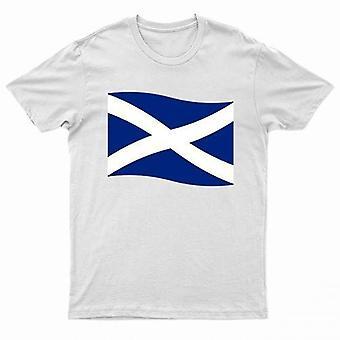Scotland Printed Scottish Flag T Shirt