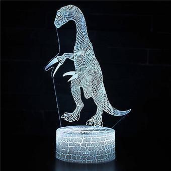 3D Illusion Lampa 7 kolory Optyczna zmiana Touch Light USB i pilot art deco Make A Romantic Atmosphere Christmas Valentine's Birthday Gift -Dinosaur # 45