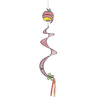 windgong omena 20 x 90 cm polyesteri punainen/valkoinen