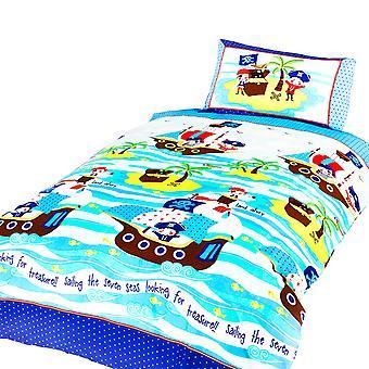 Ship Ahoy Childrens/Boys Single Duvet Cover Bedding Set