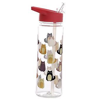Puckator Feline Fine Plastic Water Bottle