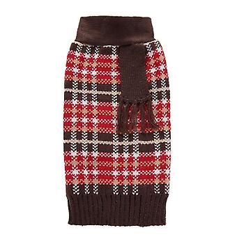 Dog cat clothes college style fake two-piece bow tie sweater autumn and winter