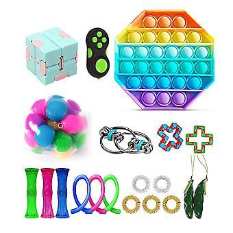20pcs Pack Fidget Toys Sensory Toy Set Antistress Relief Fidget Toys