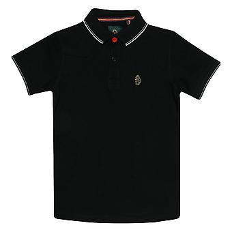 Boy's Luke 1977 Infant Tip Off Polo Shirt in Black