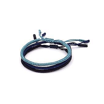 BENAVA Tibetan Lucky Bracelet Set of 3 Black, Blue, Turquoise Braided Friendship Bracelets