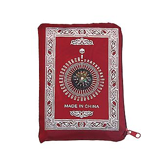 Prayer Rug With Compass Pouch Portable Braided Mats Travel Home Mat Blanket