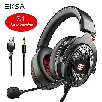 Virtual 7.1 Surround Sound Gaming -kuulokkeet Led USB / 3,5 mm langallinen kuuloke mikrofonin äänenvoimakkuuden säätöllä