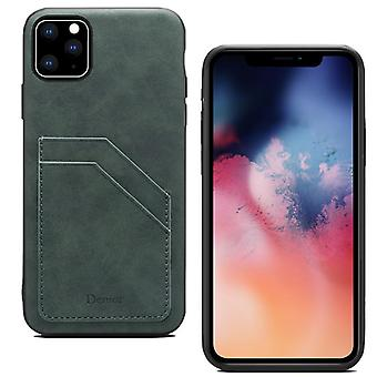 Leather wallet card slot case for samsung s10 green on26