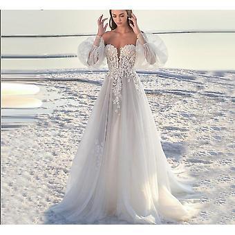 Linie Hedvábné Tylové svatební šaty