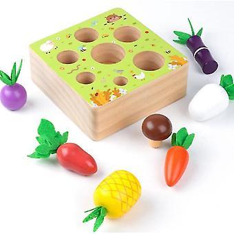 خشبية مزرعة حصاد لعبة مونتيسوري toyearly تعلم لعبة x1290