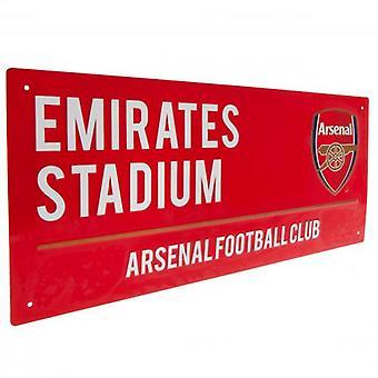Cartel de la calle roja del Arsenal FC