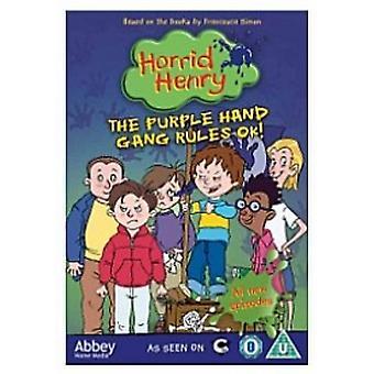 Horrid Henry - The Purple Hand Gang Rule OK! DVD